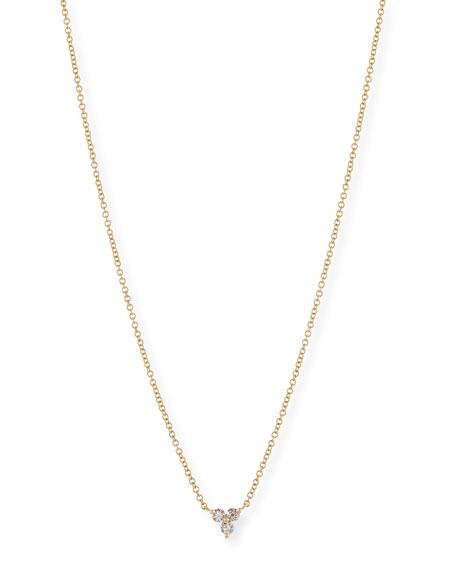 Diamond Trio Pendant Necklace