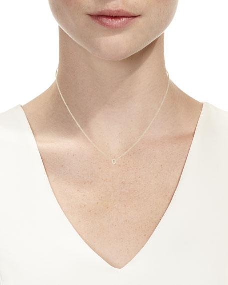 White Topaz & Diamond Teardrop Necklace