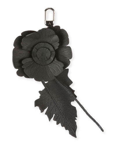 Leather Flower Key Charm