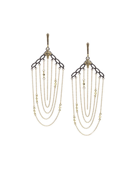 Armenta Old World Chain Earrings with Diamonds