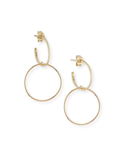 Fifteen 14k Double-Hoop Earrings