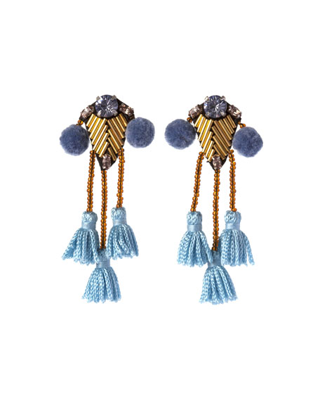 Meredith Beaded Tassel Earrings