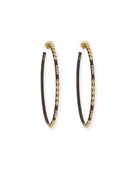 Armenta Old World Crivelli Hoop Earrings with Diamonds