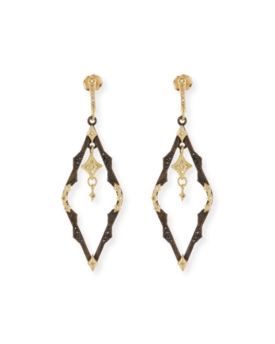 Old World Dangling Crivelli Earrings with Diamonds