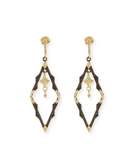 Armenta Old World Dangling Crivelli Earrings with Diamonds