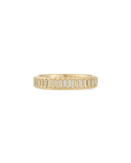 Old World Sueno White Sapphire Baguette Band Ring