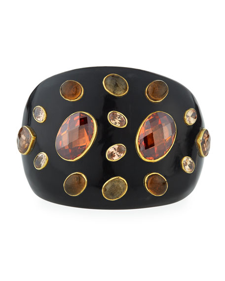 Dola Dark Horn Cuff Bracelet