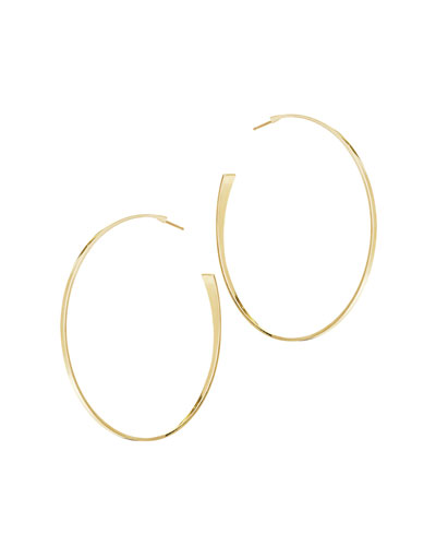 14k Gold Medium Curve Hoop Earrings