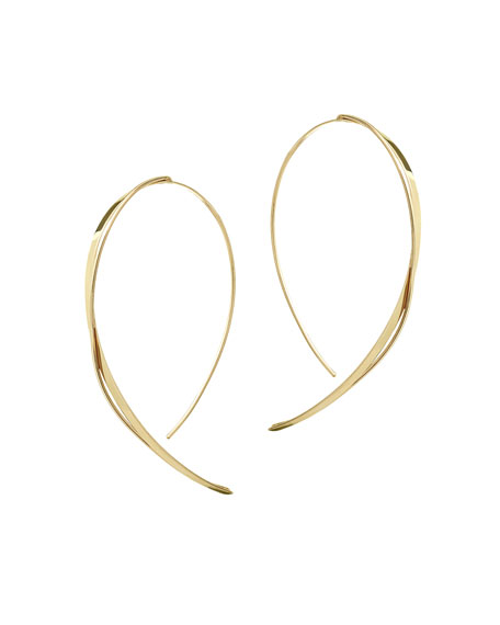 LANA Fifteen 14K Small Upside Down Twist Hoop