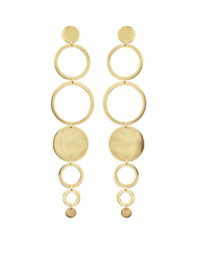 Multi-Circle Linear Drop Earrings