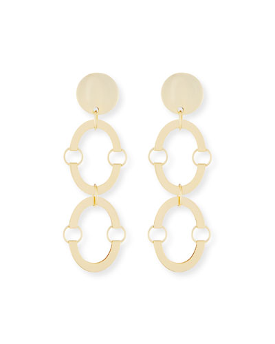Golden Arch Clip-On Earrings