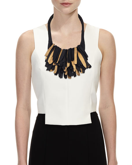 Fringed Leather Necklace