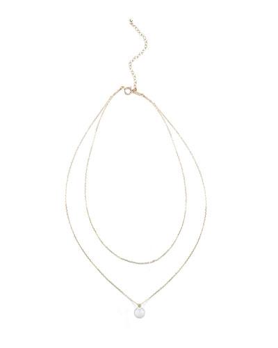 Layered Chain Pearl & Diamond Choker Necklace