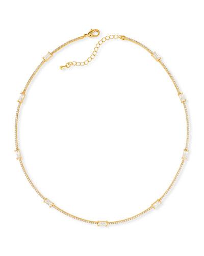Baguette Bar Collar Necklace
