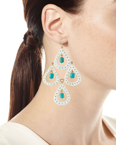 Jasiri Light Horn Tiered Drop Earrings