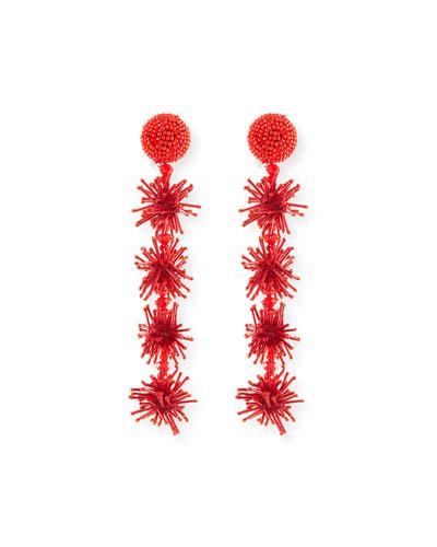 Beaded Sparkler Drop Earrings