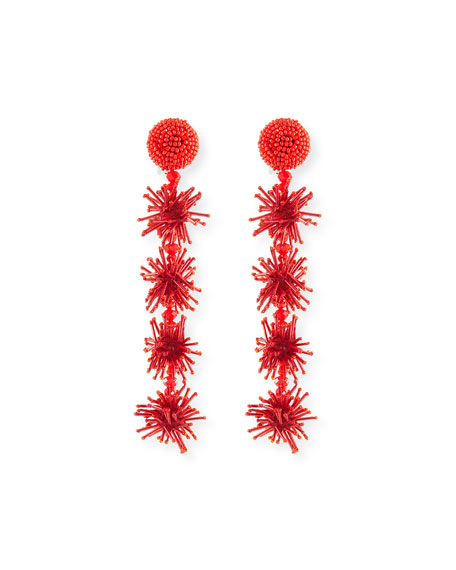 Beaded Sparkler Drop Earrings