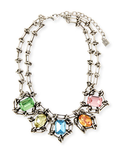 Queen Crystal Statement Necklace