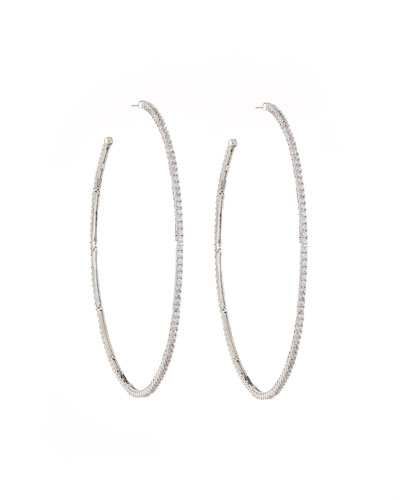 Armure Pavé Macro Hoop Earrings