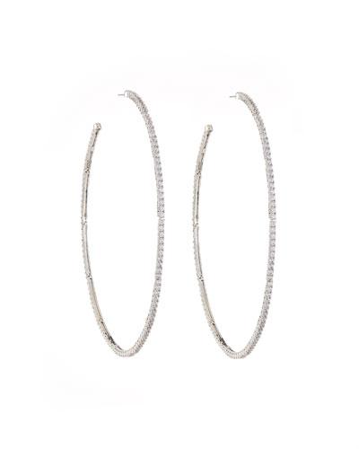 Armure Pavé Macro Hoop Earrings