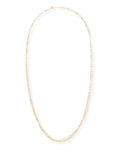 Blake Three-Strand Chain Necklace in 14K Gold, 30