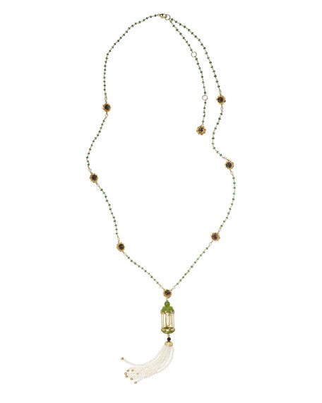 Of Rare Origin Aviary Tassel Necklace with Jade
