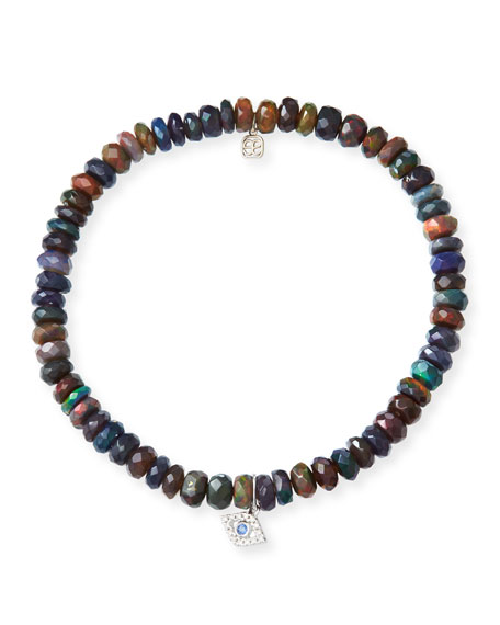 Sydney Evan 14k Ethiopian Opal Beaded Stretch Bracelet