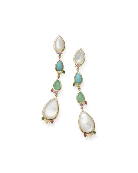 Ippolita Prisma Mixed-Cut Earrings in Portofino
