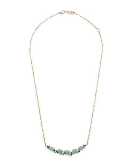 Ippolita Prisma Five-Stone Smile Bar Necklace in Portofino