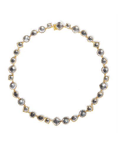 Small Sadie Riviere Necklace in Gray Foil