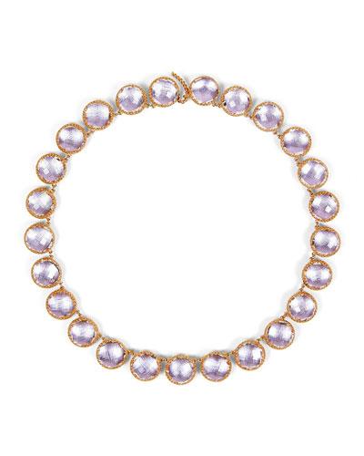 Olivia Button Riviere Necklace in Petal Foil