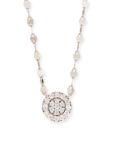 LANA 14k Flawless Diamond Pavé Disc Pendant Necklace