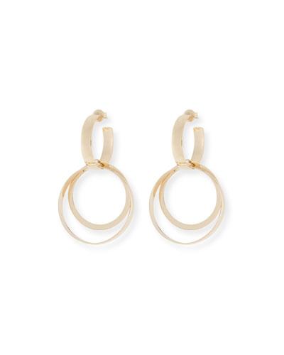 Alias 14k Small Bubble Bond Hoop Earrings