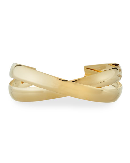 Lana Jewelry 14k Gold Alias Cross Curve Bubble Cuff Bangle lBxkPQ7