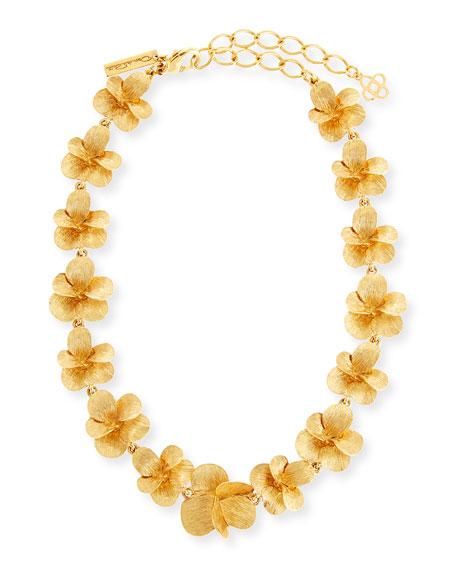 Brushed Flower Necklace