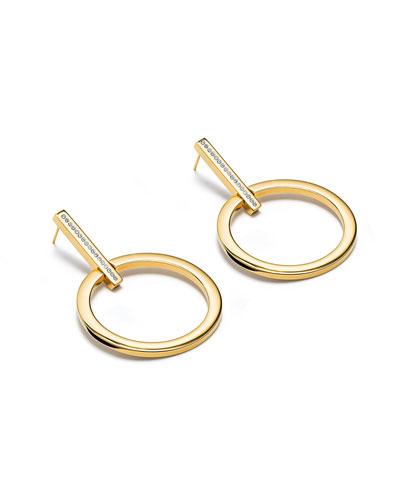 Antonia Crystal Hoop Earrings