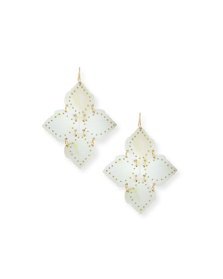 Angalia Light Horn Drop Earrings