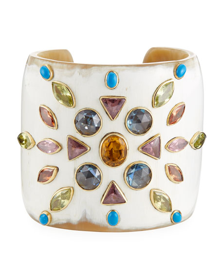 Mvutano Light Horn Cuff w/ Mixed Gems