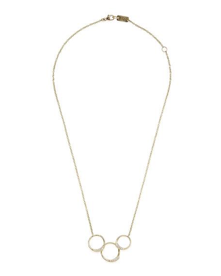 18k Stardust Diamond Ring Necklace