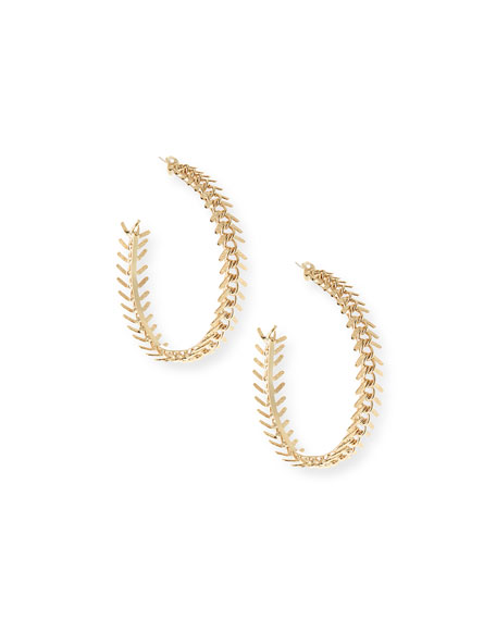 Image 1 of 1: Lisca Scalloped Hoop Earrings