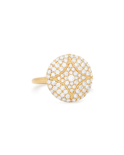 18k Large Pave Aladdin Disc Ring