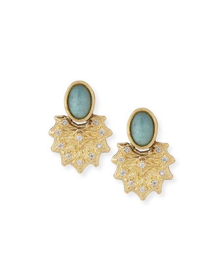 Armenta Old World 18k Starburst Aquaprase™ Stud Earrings