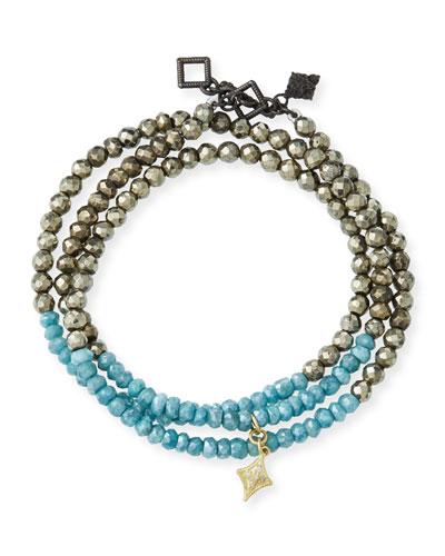Old World 18k Beaded Wrap Bracelet