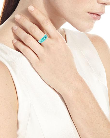 Old World Enameled Diamond Crivelli Ring