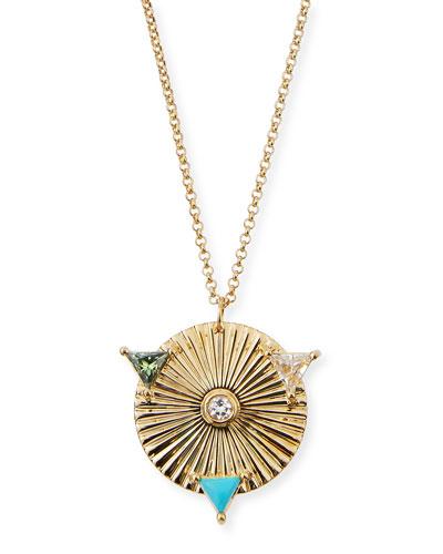 Iris Roma Mixed Pendant Necklace