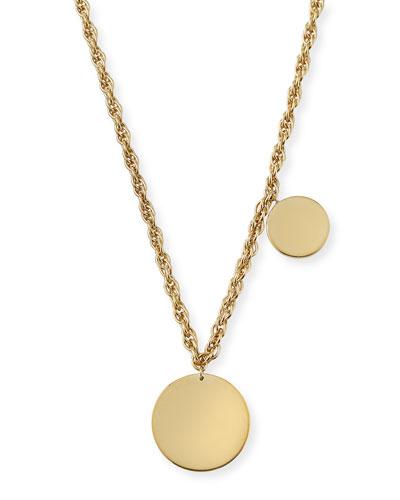 Lita Double Circle Pendant Necklace