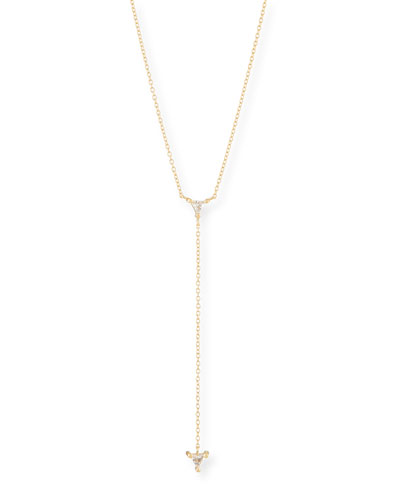 Ava Lariat Necklace w/ Sapphires