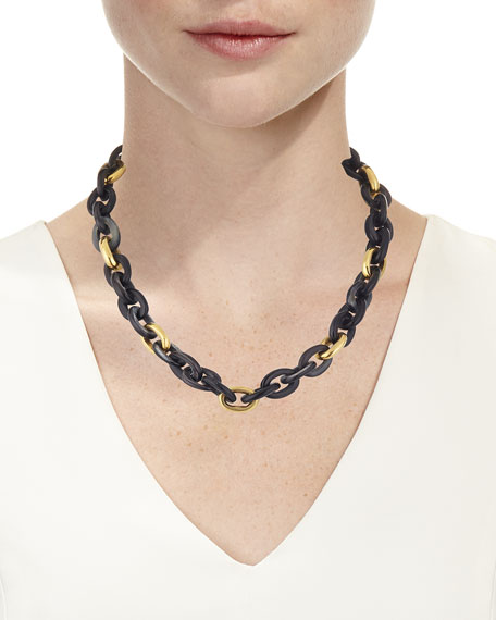 Meli Short Collar Necklace in Dark Horn