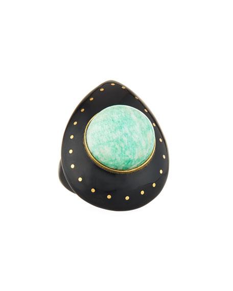 Ashley Pittman Mageuzi Teardrop Dark Horn & Turquoise