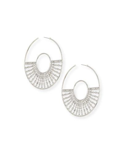 Diego Hoop Earrings  Silver